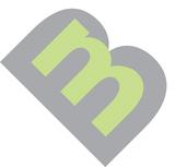 Simple mb logo grey green