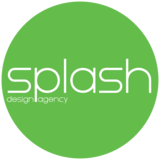 Splash desing agency green circle logo