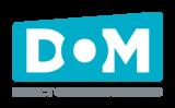 Dom logo vertical cmyk graytext