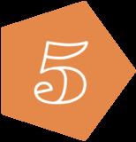 5 orange fill