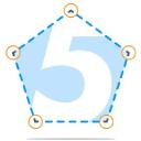 5 Point Digital Logo