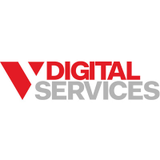 V digital square logo