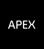 New apex logo circle no slogan black
