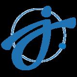 Letter jdot icon blue