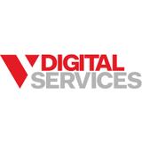 V digital square logo