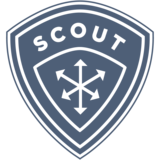 Scout logo website dark blue shield   white bkgrnd