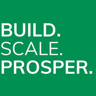Build. Scale. Prosper. Logo