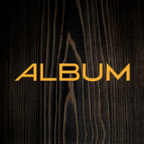 Album logo wood