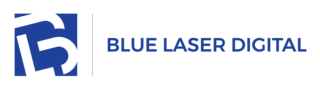 Blue Laser Digital Logo