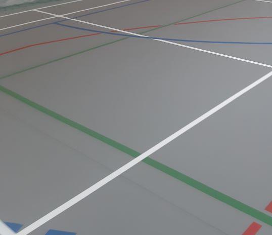 Rolo de fita adesiva para marcação de pavimentos