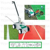 Máquina profissional para marcação de linhas em relva natural ou sintética