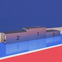 Podium desmontável para entrega de prémios - 3 blocos