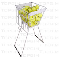 Cesto para transporte de bolas de ténis.Capacidade para cerca de 100 bolas