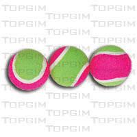 Conjunto de 3 bolas de ténis para alvo de velcro
