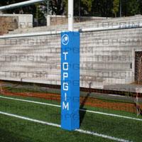 Protecção em espuma revestida para poste de baliza de rugby