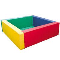 Piscina de bolas quadrada