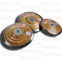 Disco de atletismo em madeira e aço Polanik para treino do lançamentodo Disco