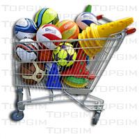 Carro tipo supermercado para o transporte de materiais