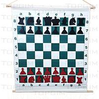 Tabuleiro magnético de xadrez para demonstração