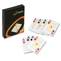 Conjunto de 2 baralhos de cartas para jogo da Canasta