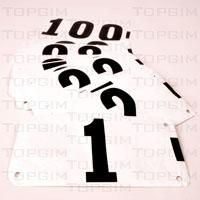 Conjunto de 100 dorsais em papel especial anti-humidade