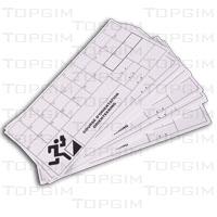 Conjunto de 50 cartões de controle resistentes à humidade