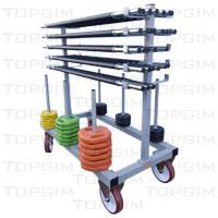 Carro para o transporte e arrumação de barras e discos