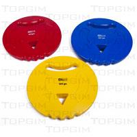 Disco de atletismo em PVC multi-pegas para aprendizagem do lançamento do disco