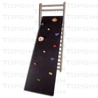 Parede de escalada infantil com adaptação para espaldar