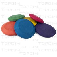 Lote de 6 discos de atletismo em espuma revestida para aprendizagem do lançamentodo Disco