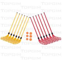 Conjunto de 12 sticks de hóquei em PVC