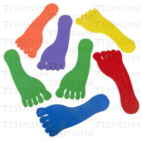 Conjunto de 6 pares de pés em borracha (esq.ª + drta.)
