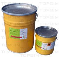 Cola de poliuretano com 2 componentes para piso de borracha