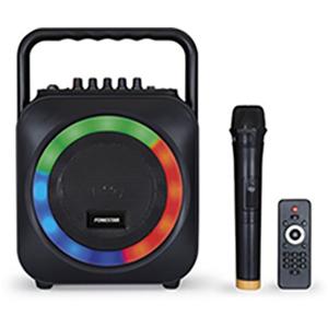 Sistema de som portátil com bateria interna e microfone sem fios