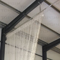 Kit para fixação de cortina divisória em pavilhão desportivo