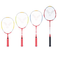 Raquete de Badminton Victor Starter, Advanced, Training e Pro