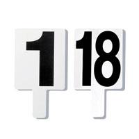 Conjunto de 18 placas numeradas frente e verso para assinalar as faltas no andebol