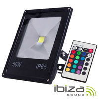 Foco Led 50W 220V C/ Comando RGB IP65 IBIZA