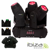 Projector MOVING HEAD Triplo 3 Leds CREE RGB 10w Foco DMX MIC IBIZA