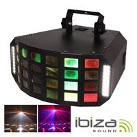Projector Luz C/ 6 Leds 3w RGBAW 36 Leds Strobe IBIZA