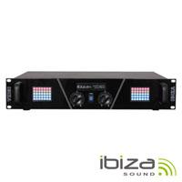 "Amplificador Áudio 19"" 2x800W Display Led Matrix IBIZA"