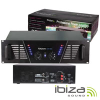 """Amplificador Áudio 19"""" 2x1500W IBIZA"""