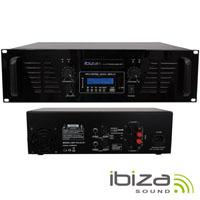 """Amplificador Áudio 19"""" 2x800W USB/BT IBIZA"""