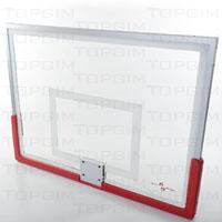 Tabela de basquetebol em vidro temperado de 12mm