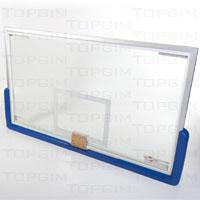 Tabela de basquetebol para alta competição em vidro temperado de 12mm
