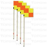 Conjunto de 4 bandeirolas de canto flexíveis
