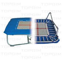"""Zona de salto em fitas de nylon de 13mm c/ 70 x 70cm p/ mini-trampolim """"Molas""""."""