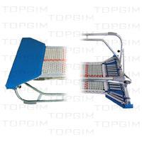 "Zona de salto em fitas de nylon de 13mm c/ 70 x 60cm p/ mini-trampolim ""Aberto""."