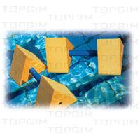 Par de Halteres triangulares para hidroginástica