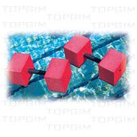 Par de Halteres quadrados para hidroginástica